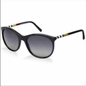 Burberry Black Polarized Women's Sunglasses